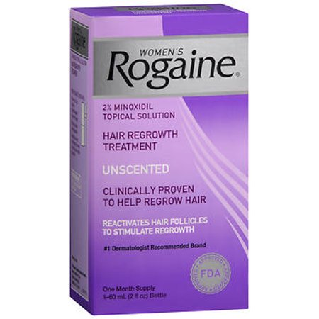 Rogaine Women's Topical Solution, Hair Regrowth Treatment, Unscented - 2 fl
