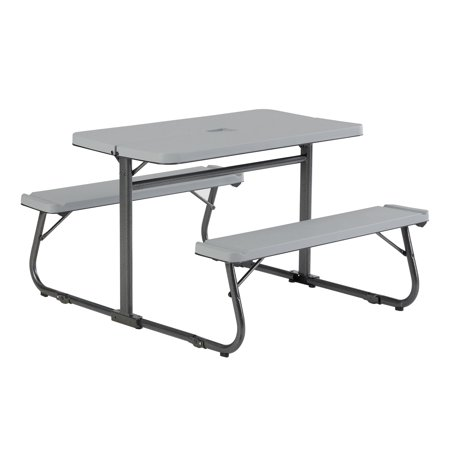 Your Zone Folding Kid's Activity Table with Two Benches, Soft -