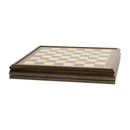 Heirloom Walnut Chess Board with Storage - 22 Inch