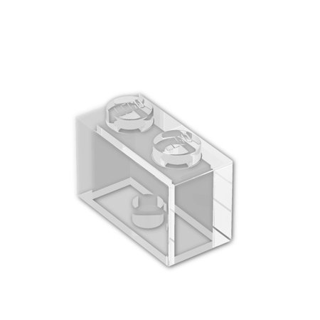 Brick Building Sets Original LEGO® Parts: Brick 1 x 2 #3004 (Pack of 25) (Transparent Clear) ()