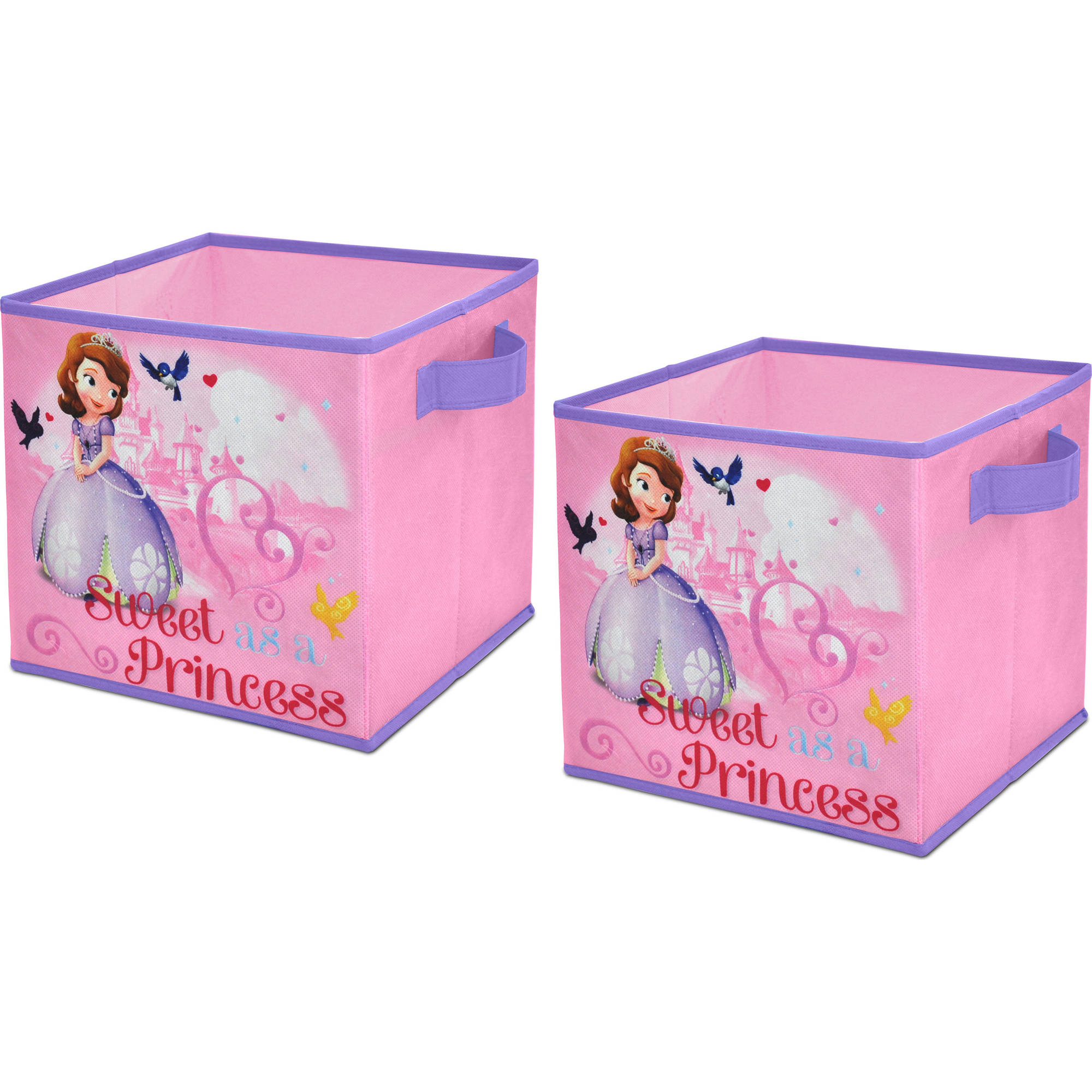 Disney Sofia the First 2-Pack Storage Cube - Walmart.com