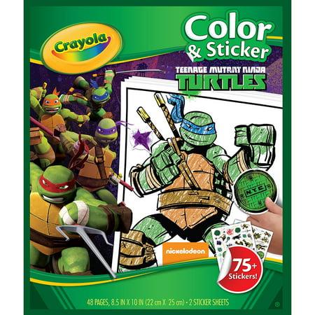color n sticker book teenage mutant ninja turtles walmart com