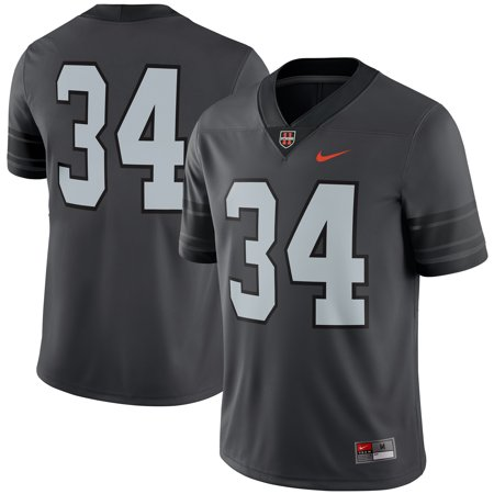 Oregon State Beavers Jersey - #34 Oregon State Beavers Nike 11 Strong Game Football Jersey - Anthracite