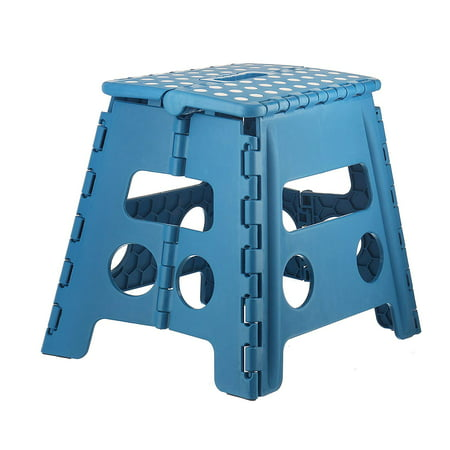Cool Folding Step Stool Children And For Adults 13 In Blue With Dots Holds Up To 300 Lbs Frankydiablos Diy Chair Ideas Frankydiabloscom