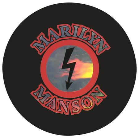 Marilyn Manson - Reflective Logo Decal](Halloween Marilyn Manson Cover)