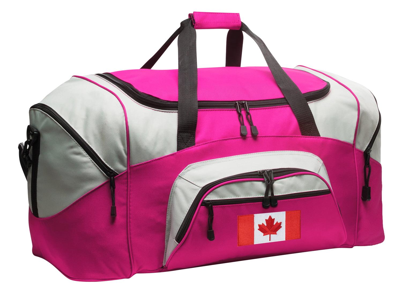 Canadian Flag Duffle Bag or Ladies Canada Flag Luggage