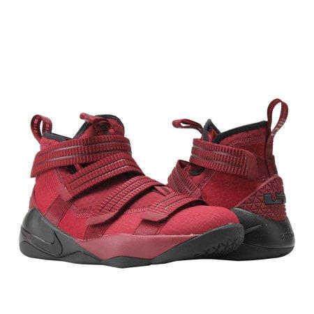 Nike Lebron Soldier XI (GS) Team Red/Black Big Kids Basketball Shoes 918369