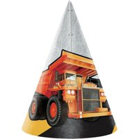 Creative Converting Big Dig Construction Party Hats, 8 ct