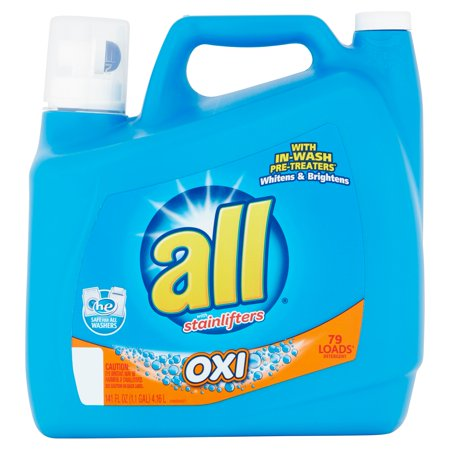 All With Stainlifters Oxi Liquid Laundry Detergent  141 Fl Oz