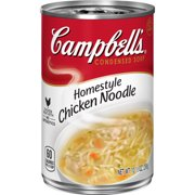 (4 pack) Campbell'sCondensed Homestyle Chicken Noodle Soup, 10.5 oz. Can