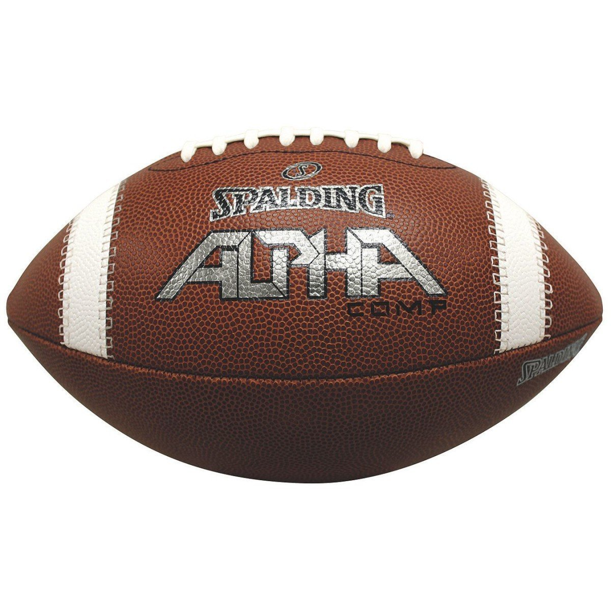 Alpha Composite Football-YOUTH, Soft, premium PU composite cover material with three-ply water-resistant liner and rubberized lace. By Spalding