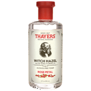 THAYERS Rose Petal Witch Hazel Toner - Alcohol Free & Organic Aloe Vera 12oz