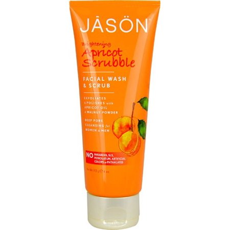 Jason Apricot Scrubble Facial Wash & Scrub, 4 Oz