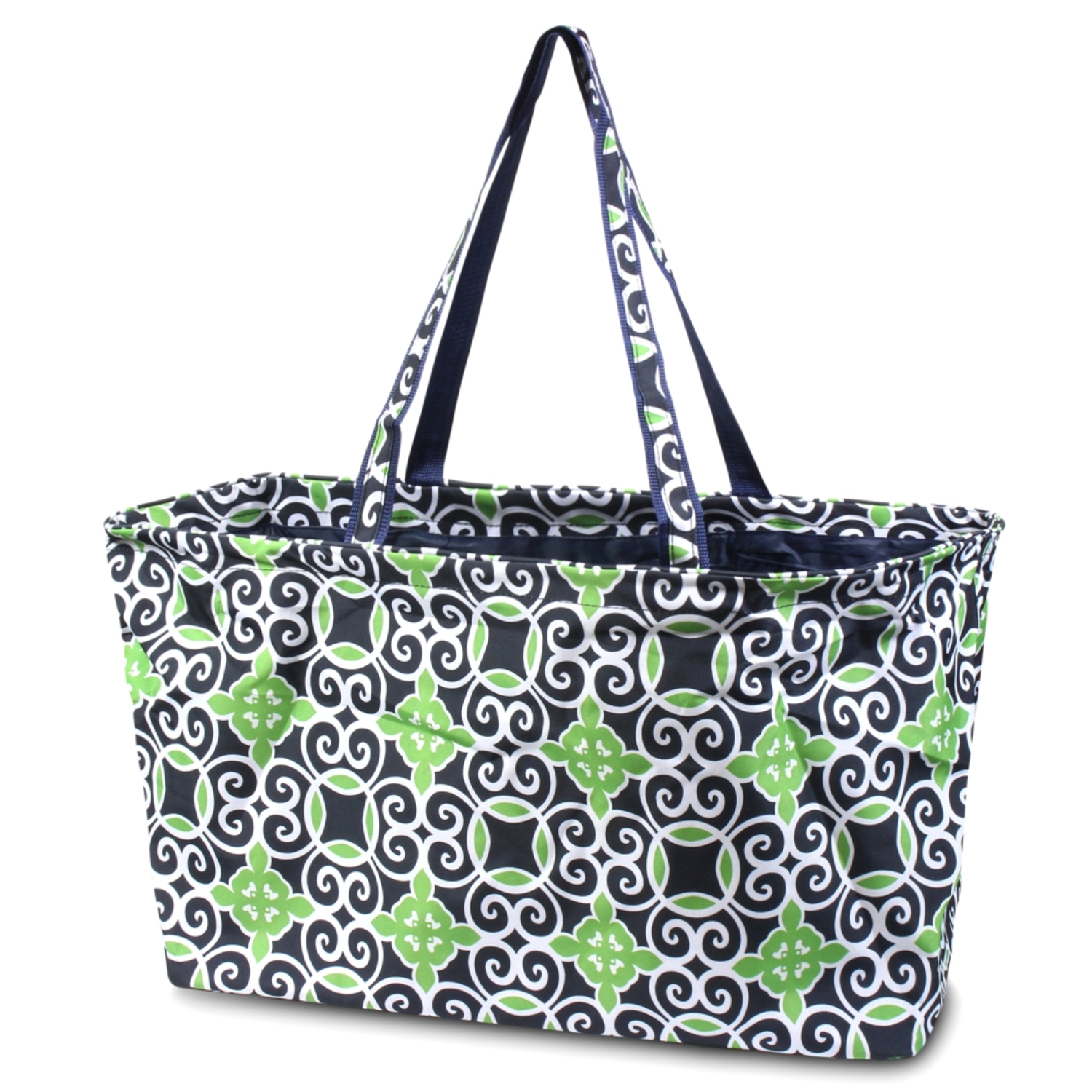 Zodaca All Purpose Large Utility Handbag Laundry Shopping Travel Tote Carry Shoulder Bag