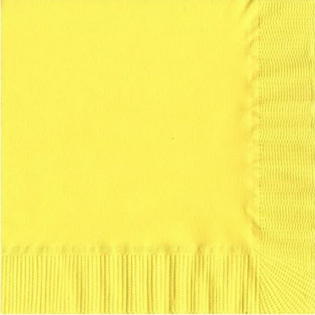 50 Plain Solid Colors Luncheon Dinner Napkins Paper - Yellow