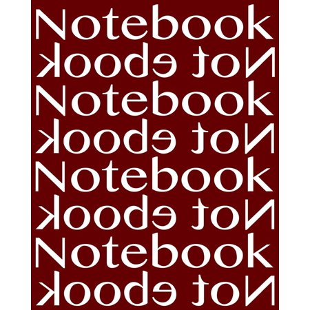 Notebook Not eBook Unruled Notebook with 120 Pages: Unruled Blank Notebook, Perfect Bound, Ideal for Composition Notebook or Journal. -