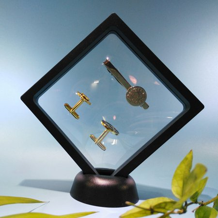 """3D 3.5x3.5"""" Square Coin Jewelry Protect Show Case Display Frame Floating Holder - image 4 of 6"""