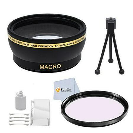 58mm Wide Angle Lens Accessory Kit For Nikon D40, D40x, D50, D60, D70, D70s, D80, D90, D3000, D3100, D3300, D5000, D5100, D5200, D5300, D7000, D7100, D7200, D600, D610, D800, D800E, DF, D4, D4S DSLR