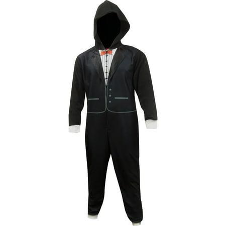 Black Tuxedo Union Suit One Piece - Tuxedo Pajamas