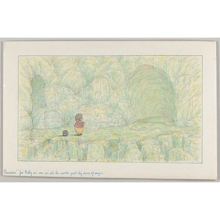 """Paradise Jes Billy an me an all the world great big caves of sugar (Wiggle Much Design) Poster Print by Herbert E Crowley (British London 1873  """"1939 Zurich) (18 x 24) ()"""