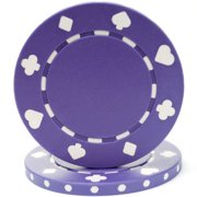 100 Suited Chip, 11.5gm, Purple By Trademark Poker Ship from US by