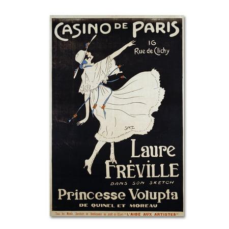 Trademark Fine Art 'Casino De Paris Voluptua' Canvas Art by Vintage Apple Collection ()