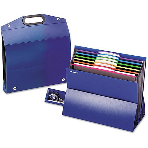 Pendaflex On the Go Desktop Stadium Style File, 6 Pockets, Poly, Letter, Blue