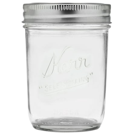 Kerr Half-Pint Glass Mason Jar w/Lid & Band, 8 Ounces, 12 - Decorate Mason Jars For Halloween