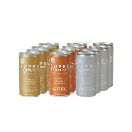 - Kitu Super Espresso Variety, 4 Each Original, Vanilla, and Caramel, 12 Pack