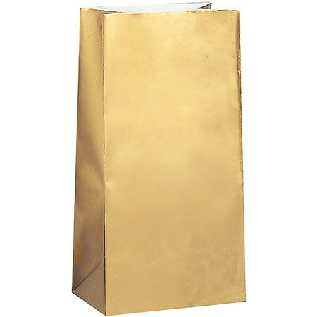 Metallic Gold Paper Party Bags, 10pk - Walmart.com