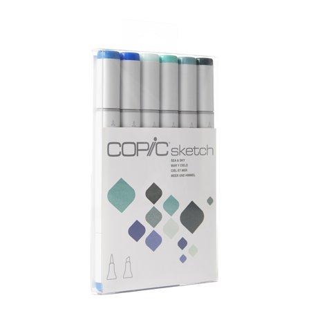 Copic® Sketch Marker Set, Sea & Sky