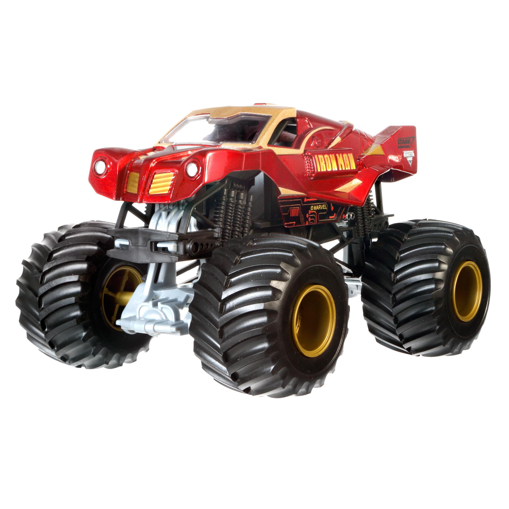 Hot Wheels Monster Jam Off-Road Iron Man Die-Cast Metal Body Vehicle