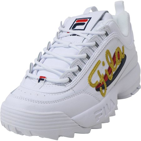 Fila Women's Disruptor Ii Signature White / Navy Red Sneaker - 7M