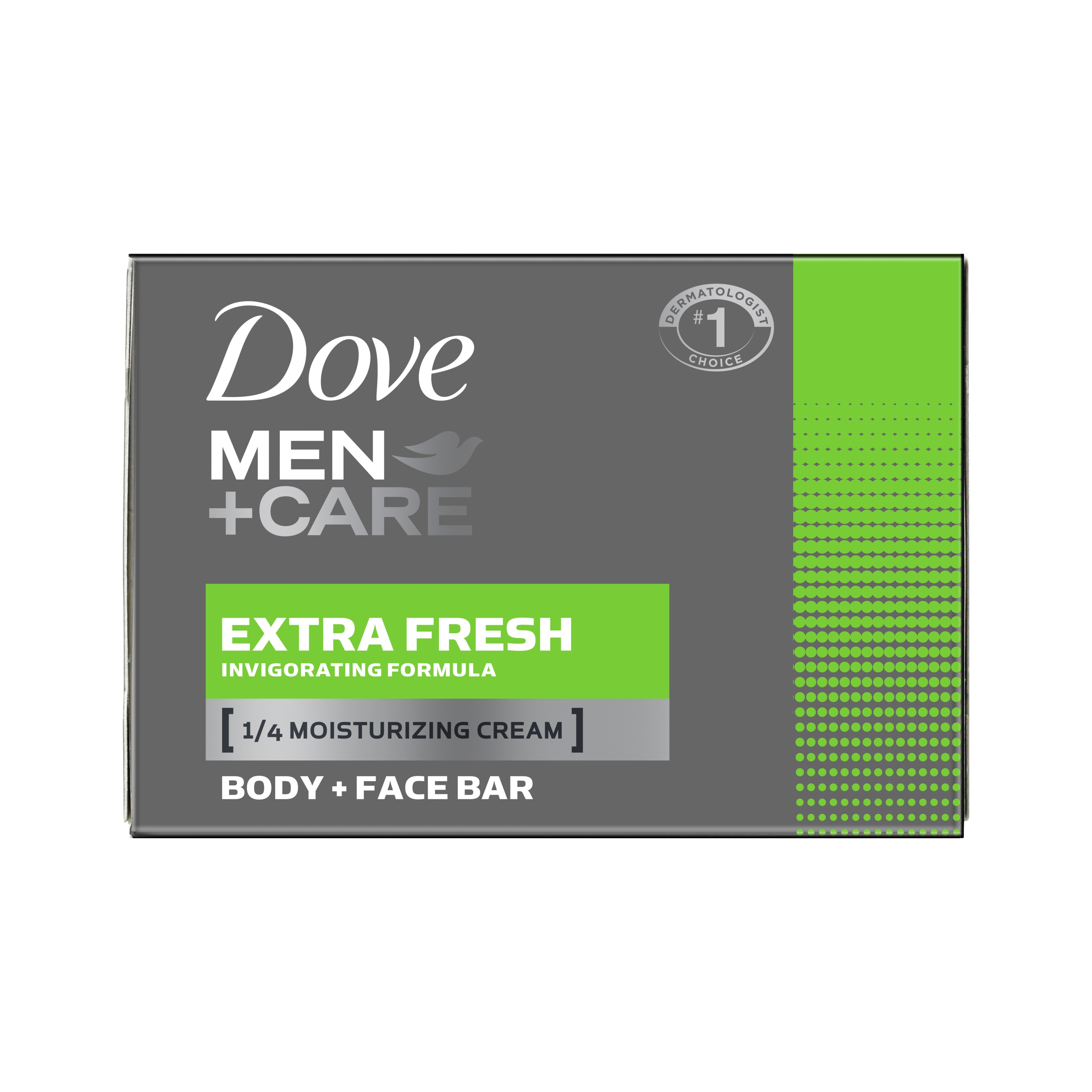 Dove Men+Care Body and Face Bar Extra Fresh 4 oz, 6 Bar