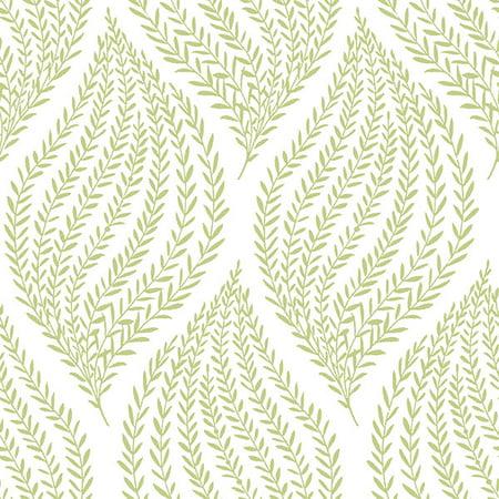 Nuwallpaper Fern Lime Green Peel Stick Wallpaper
