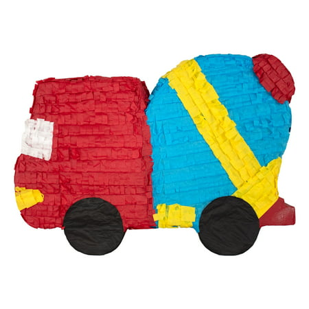 Red Construction Truck Party Pinata, 20in x 16in
