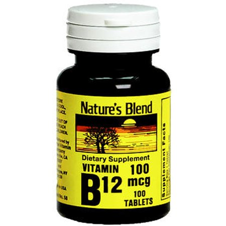 Mélange de nature vitamine B12 100 mcg - prendre 100 ct
