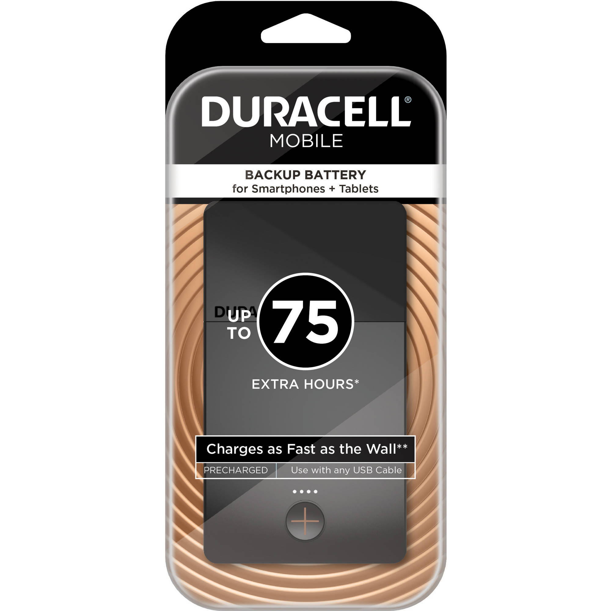 Duracell Mobile PowerPack Plus 10200 mAh Universal Backup Battery for Smartphones, Tablets and