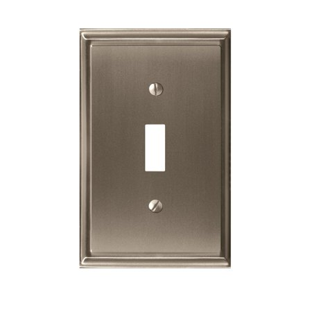 Mulholland 1 Toggle Satin Nickel Wall Plate Ultralights Nickel Plate