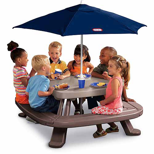 Little Tikes Endless Adventure Fold N' Store Picnic Table Combo