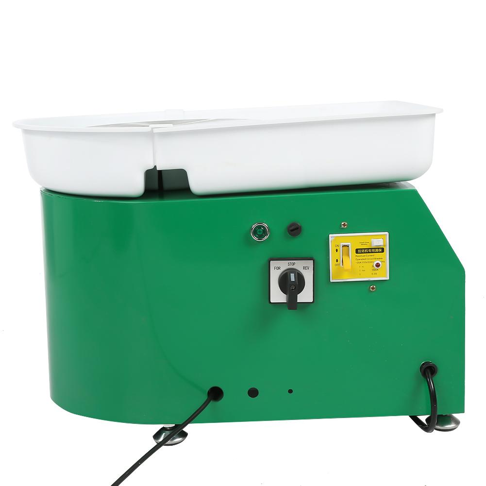 Green Electric Pottery Wheel Machine 350W Pottery Wheel Forming Machine Professional Easy to Use 24cm Brushless Electric Pottery Wheel Machine US Plug for Student and Amateur