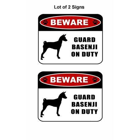 Basenji Silhouette Dogs (2 count