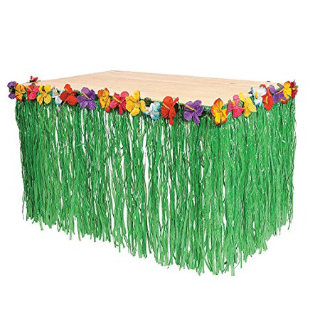 Fun Express Luau Grass Table Skirt (Table Grass Skirts)