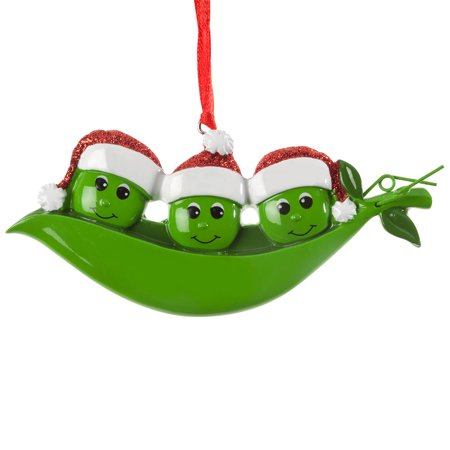 Peas in a Pod Ornament, Family of 3