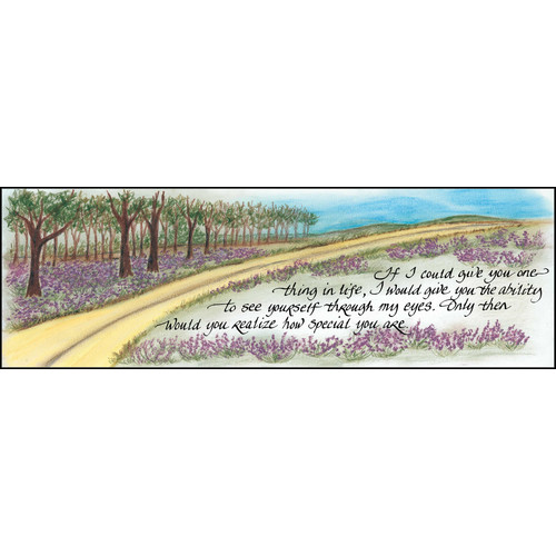 LPG Greetings Life Lines If I Could Give You One Thing by Lori Voskuil-Dutter Graphic Art Plaque