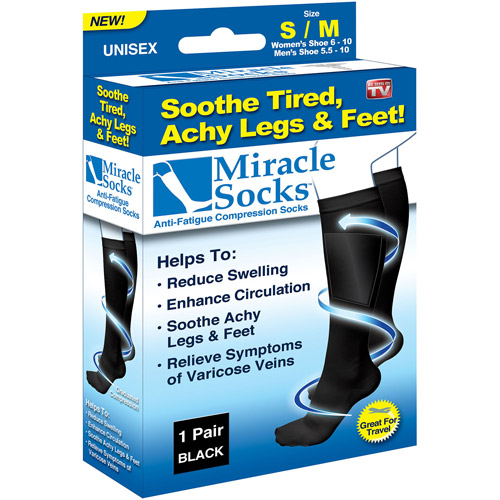 As Seen on TV Miracle Socks, Small/Medium