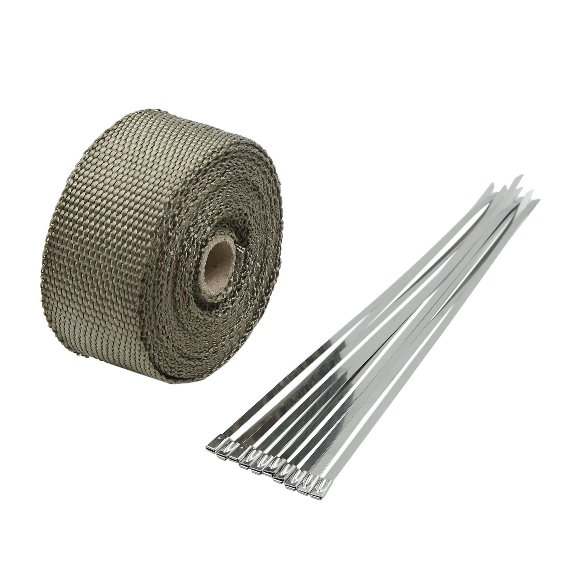 7.5M Titanium Fiber Exhaust Heat Insulating Wrap Sealing Tape for Car - image 5 of 5