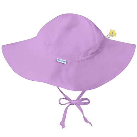 Iplay Brim Sun Hat for Baby Girls Sun Protection Wide Brimmed Hat- Solid Lavender Purple Newborn 0-6 Months Baby Girl Hat Is Adjustable To Fit Outdoor Hat With Chin Strap; Pool Beach Fashion Cute Swim