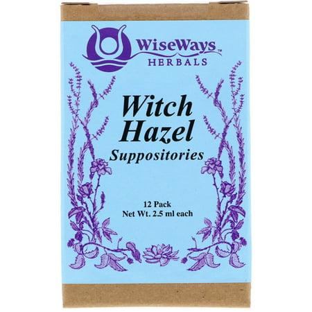 WiseWays Herbals  LLC  Witch Hazel Suppositories  12 Pack  2 5 ml Each