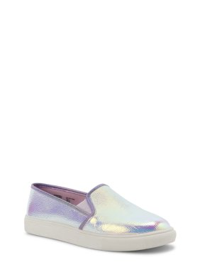 Wonder Nation Iridescent Twin Gore Slip-On Shoe (Little Girls & Big Girls)